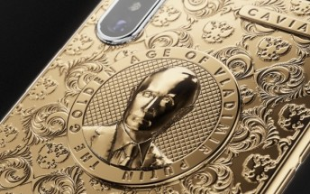Caviar celebrates Putin's reelection with new golden iPhone X