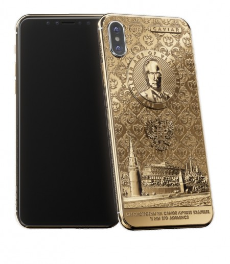 Caviar celebrates Putin's election win with new golden iPhone X