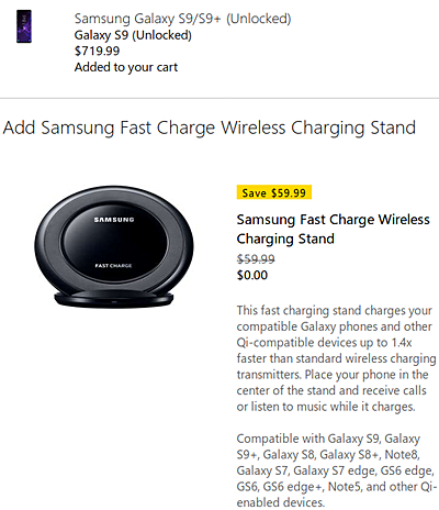Deal: Free fast charge wireless charging stand with Samsung