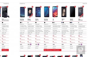Vodafone Spain's brochure showing the Huawei P20 Lite