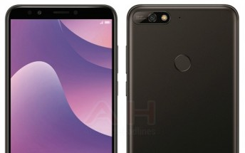 Huawei Y7 (2018) press renders leak