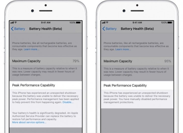 Apple iOS 11.3 brings power management to the people