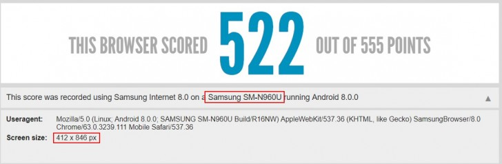 Samsung Galaxy Note9 runs its first benchmark - GSMArena com