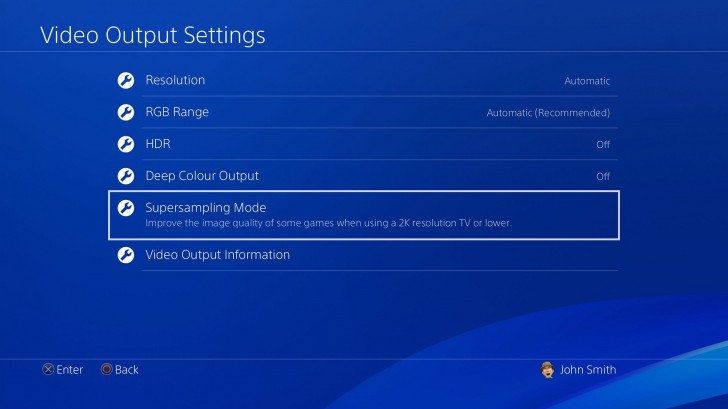 PS4 Pro 5 50 update adds supersampling support for 1080p displays