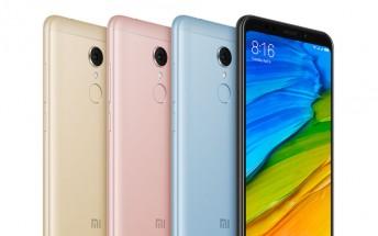 Xiaomi launches Redmi 5 in India