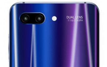 Leaked image shows the back of the Honor 10