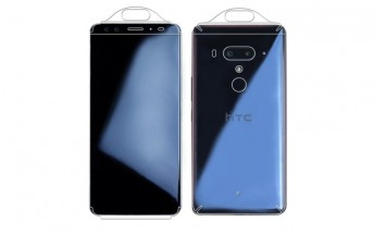 HTC U12+ appears in case renders with 4 cameras
