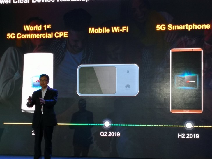 Huawei's first 5G smartphone arrives in the second half of