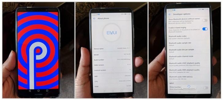 Android P test build for Huawei Mate 10 Pro leaks - GSMArena