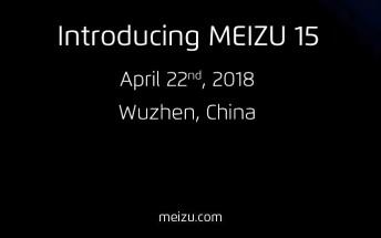 Meizu 15 launch event set for April 22