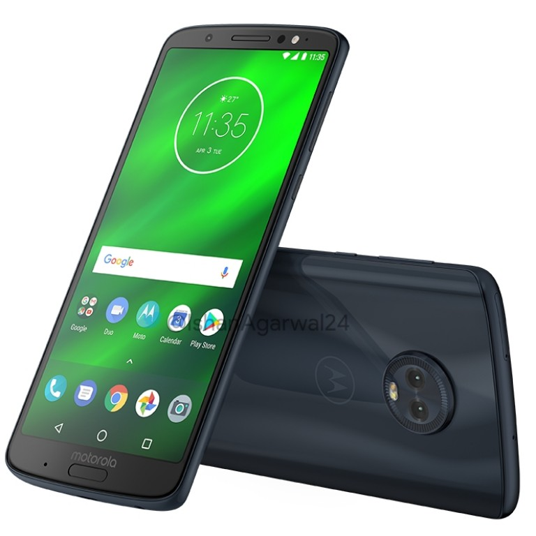 Moto G6 Play, Moto G6, Moto G6 Plus renders in all colors