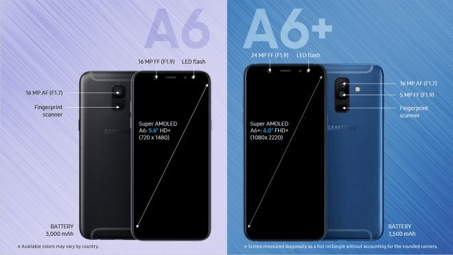 Samsung Galaxy A6 2018 And A6 2018 Prices Leak