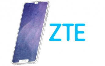 ZTE patents another dual notch display smartphone design