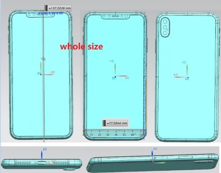 IPhone X Plus Design Scheme Leaks Reveal Triple Camera Setup