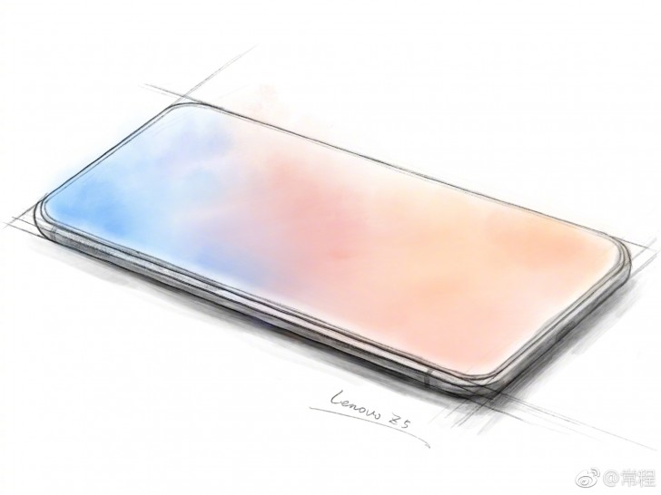 Lenovo Z5 sketch with massive screen-to-body ratio revealed