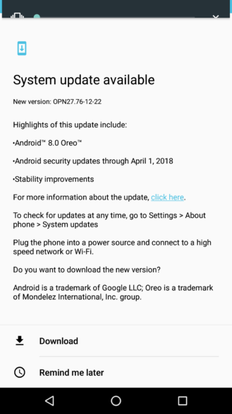 Oreo for Motorola Moto Z Play begins rolling out in US - GSMArena