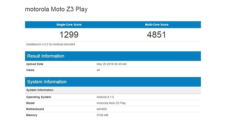 Moto Z3 Play Benchmarked With Android 8.1, Mid-Range Specs