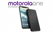 Motorola One Power pictured with slim bezels and a notch