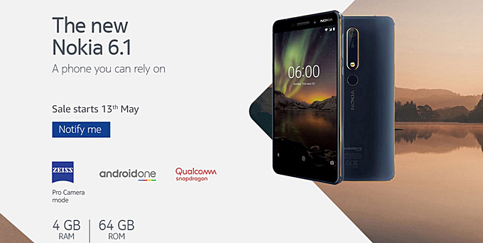 Nokia 6 (2018) 4GB model India launch set for May 13