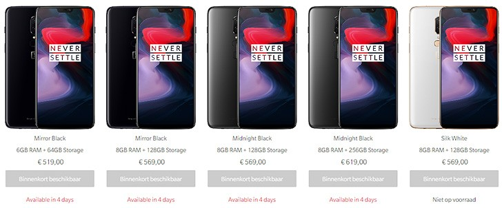 OnePlus 6 arrives at European stores