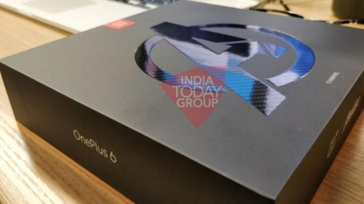 Image result for OnePlus 6T box leaked. GSMArena/Weibo