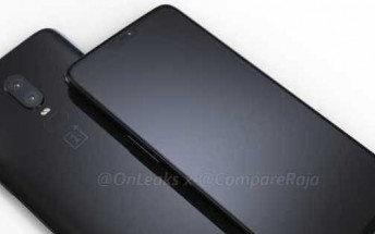 CAD renders show every OnePlus 6 angle