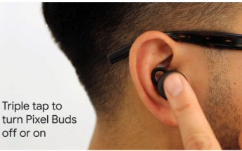 Now you can turn on/off your Pixel Buds through a triple tap
