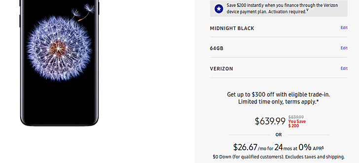 Deal: Grab Samsung Galaxy S9 and S9+ for $520 and $640