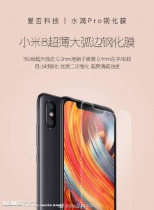 Xiaomi Mi 8 design revealed by promo images for a screen protector