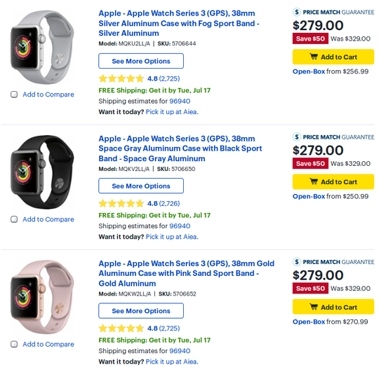 887207c4b Apple Watch Series 3 available at  50 discount in US - GSMArena.com news
