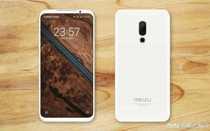 Alleged Meizu 16 press image showcases the massive screen