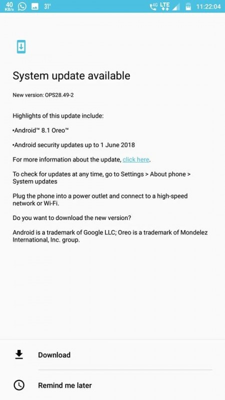 Motorola is currently running soak test for Android 8 1 Oreo on the