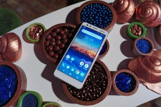 Nokia 3.1 in white