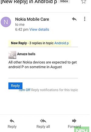gsmarena 001 - Nokia Akıllı Telefonlarına Yakında Android P Güncellemesi Geliyor