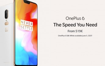 Limited edition Silk White OnePlus 6 and OnePlus Bullets Wireless are now available