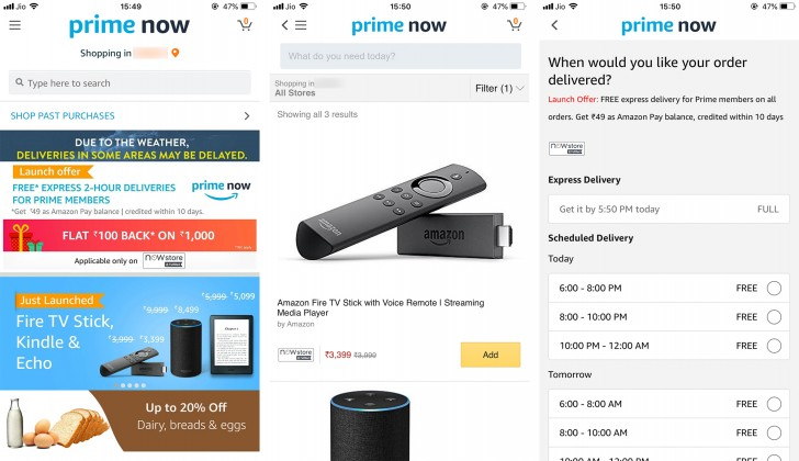 Amazon adds Fire TV Stick, Kindle and Echo to Prime Now in
