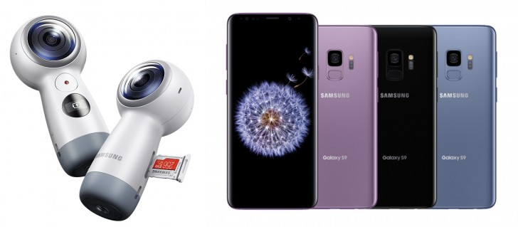 Deal: Samsung Galaxy S9 and S9+ with a free Gear 360 (2017) camera