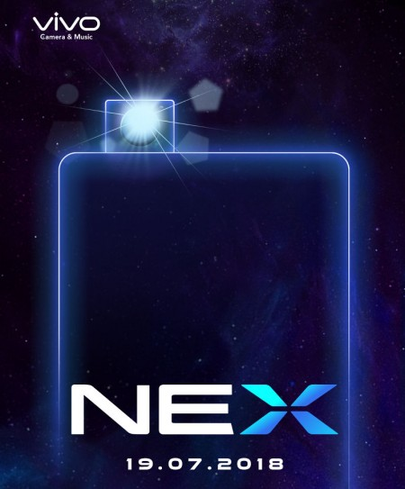 vivo is launching its two NEX smartphones in India on July 19
