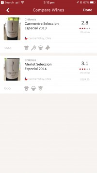 Scan multiple bottles to compare Select a wine for more info Scan the wine list