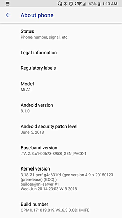 How to update Xiaomi Mi A1 to 8.1 - Things You Must No 1