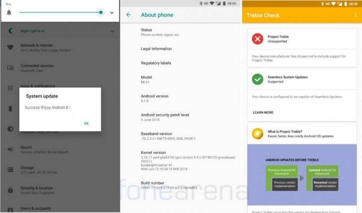 Xiaomi already testing Android 8 1 Oreo for Mi A1 - GSMArena