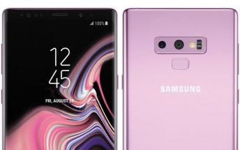 Galaxy Note9 shows up in renders in Lilac Purple