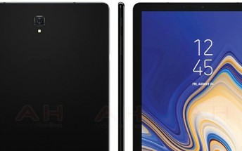 Samsung Galaxy Tab S4 leaked press image shows skinny bezels