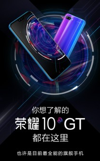 Presentation slides from the Honor 10 GT announcement