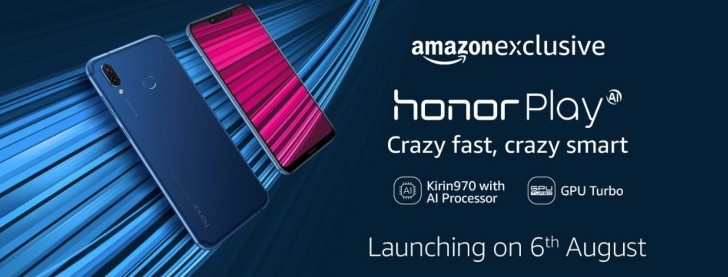 Honor Play goes live in India on August 6 as Amazon