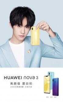 Huawei nova 3 official posters