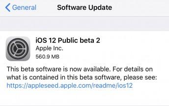 Apple releases iOS 12 public beta 2