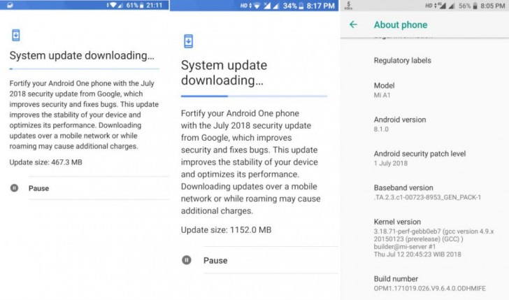Mi A1 Android 8.1 Update