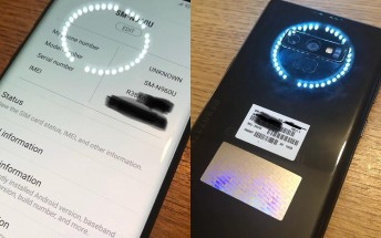 Samsung Galaxy Note9 smiles for the camera in newly leaked live images