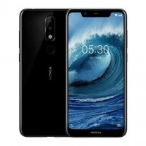 Nokia X5 in black and blue